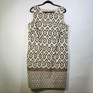 Anne Klein Dot Print Sleeveless Shift Dress